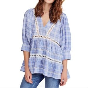 Free People Time Out Lace Tunic Size Small